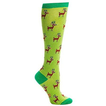 Sock It to Me Reindeer Games Knee High Tube Socks