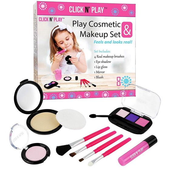 7279c394c Click N' Play Pretend Play Cosmetic and Makeup Set - Walmart.com