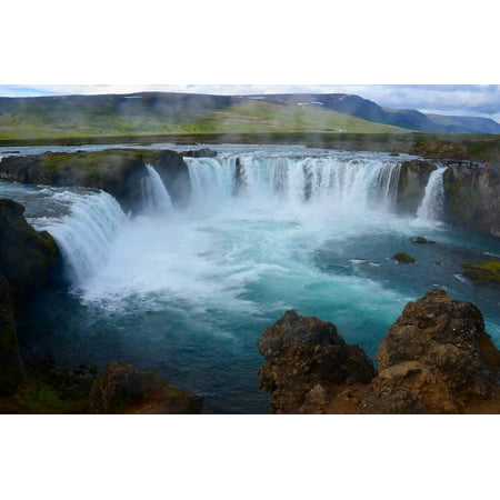 LAMINATED POSTER Force Nature Water Waterfall Landscape Iceland Poster Print 24 x 36