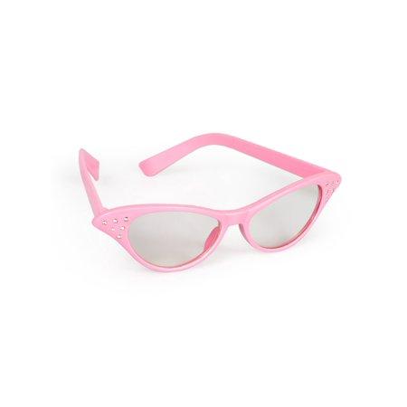 Pink Rhinestone 1950s Glasses](1950's Glasses)