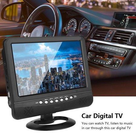 EECOO Digital TV with Antenna,9.5  Portable LCD Analog Car Digital Mobile TV Television Remote Control 110-240V US Plug,Digital (Difference Between Analog Electronics And Digital Electronics)