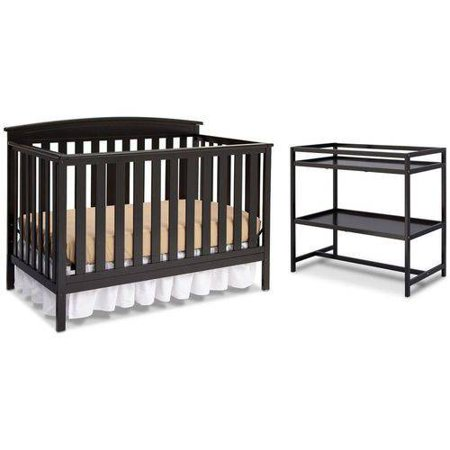 Delta Children Gateway 4-in-1 Convertible Crib with BONUS Changing Table, Choose Your (Child Of Mine Crib And Changing Table Combo)