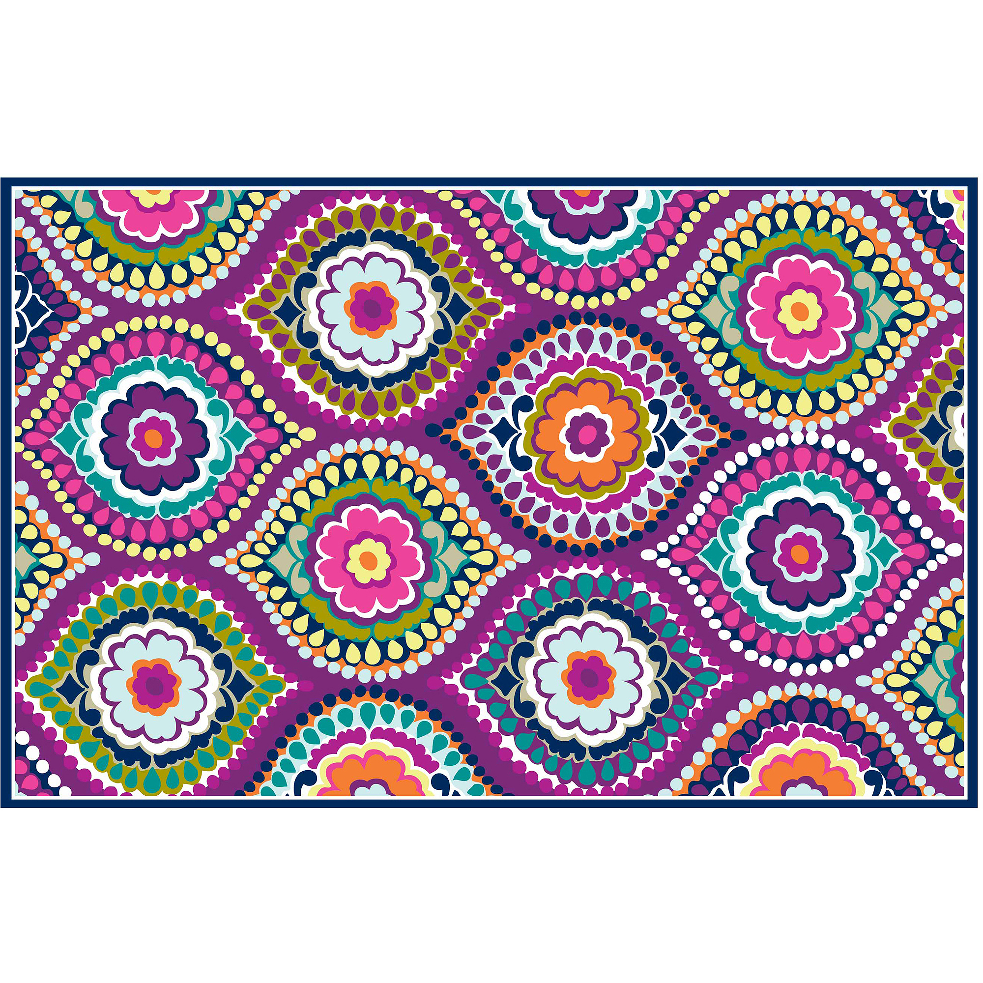 "your zone painters mosaic rug, purple, 4'8"" x 3'"