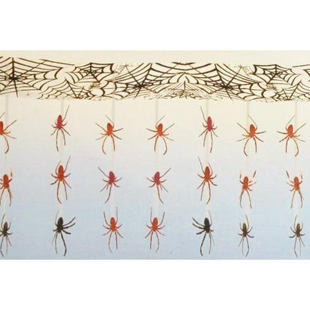 Dangling Spider & Web Indoor Outdoor Decoration Banner (10 Feet Wide!), Dangling SPIDER & WEB Halloween Party Decoration By Halloween Party