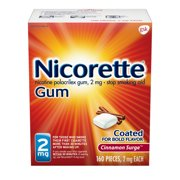 Nicorette Nicotine Gum to Stop Smoking, 2mg, Cinnamon Surge Flavor - 160 Count