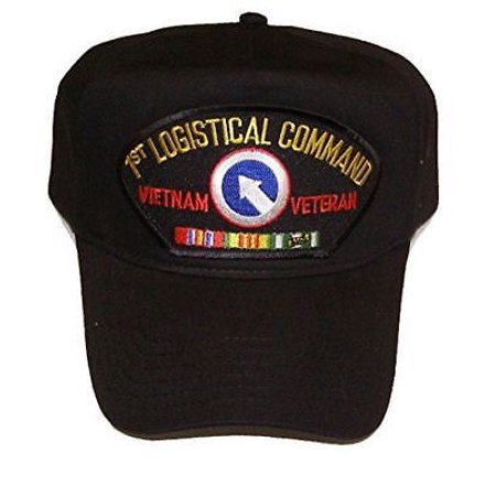 US ARMY FIRST 1ST LOGISTICAL COMMAND VIETNAM VETERAN HAT CAP W/ RIBBONS Command Military Hat