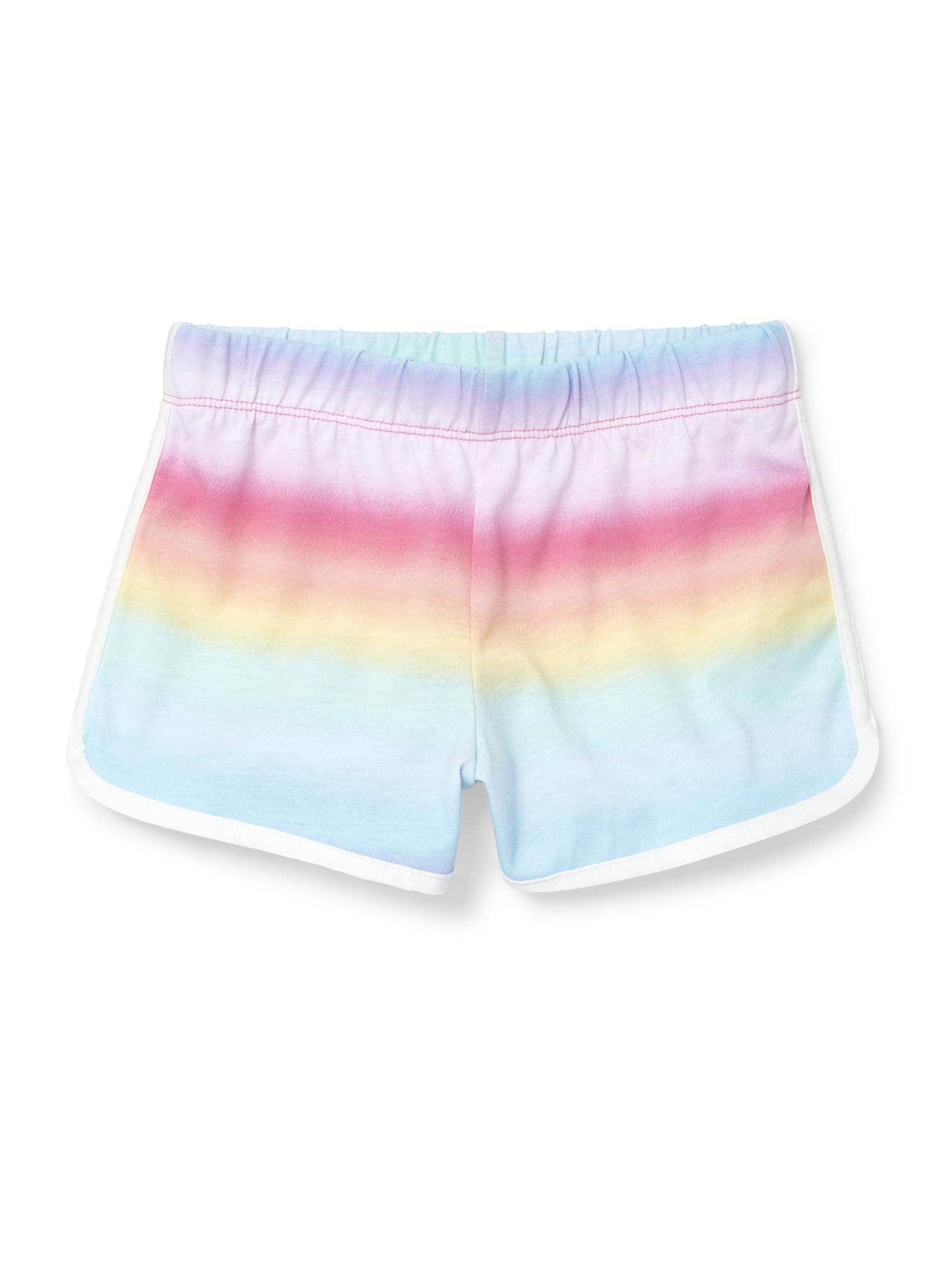 Rainbow Stripe Dolphin Short (Little Girls & Big Girls)