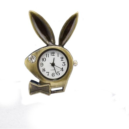 - Playboy Bunny Rabbit Style Copper Antique Tone Anti-Tarnish Man Woman Necklace Pendant Pocket Watch, WP-19