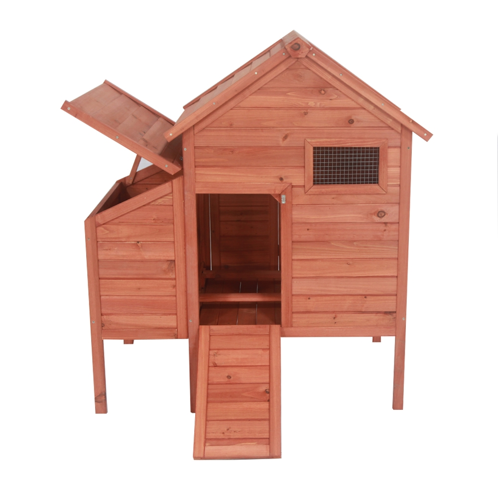 ALEKO Raised Fir Wood Chicken Coop / Rabbit Hutch - 44 x 30 x 48in