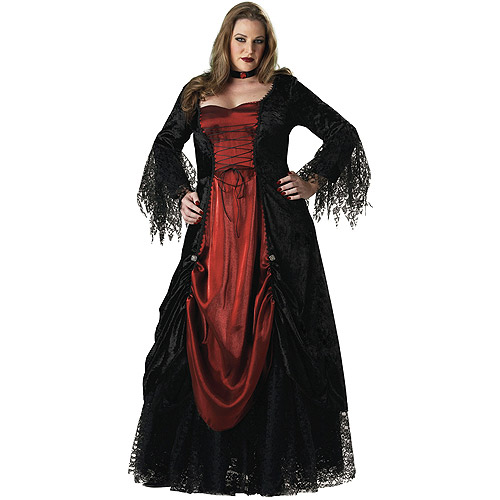 Plus Size Gothic Vampiress Costume for Adult