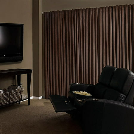Absolute Zero Velvet Room Darkening Home Theater Curtain Panel ()