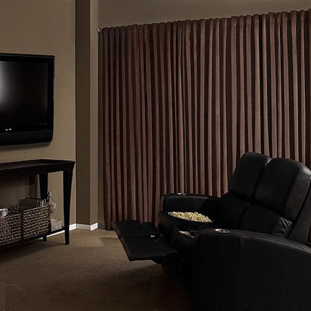 Absolute Zero Velvet Room Darkening Home Theater Curtain Panel