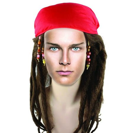 Dreadlocks Wig For Men (Mens Pirate Wigs Buccaneer Braided Captain Jack Hair Dreadlock Wig for Cosplay Costume Party)