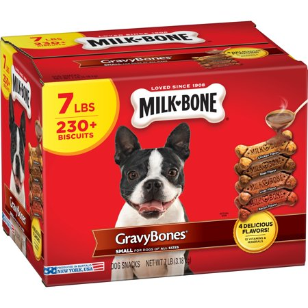 Milk-Bone Gravy Bones Dog Biscuits, Small, 7 Lb.