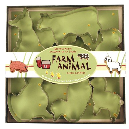 Long Stem Cookie Box - Fox Run Cookie Cutter Set Boxed Farm Animal Shapes Tin Plated Steel 2-3