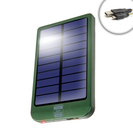 Restore Sl2600 Solar Battery Pack With 2600Mah Power Bank And 1 5A Usb Charging Port By Revive   Works With Gopro Hero5 Black   Hero5 Session   Drift Ghost S   Sony Fdr X1000v   More Action Cameras