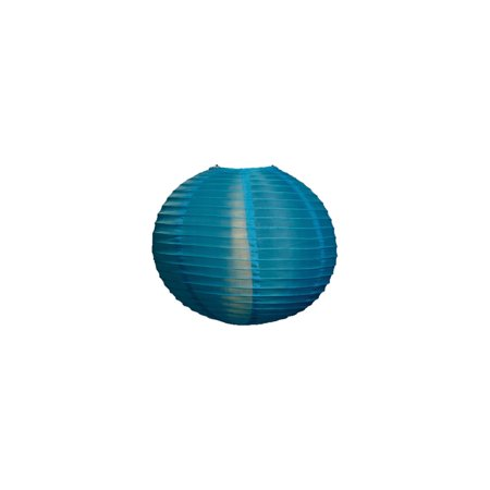 Round Nylon Outdoor Paper Lantern For Home Decor And Wedding Decorations 14 Inch Turquoise Blue