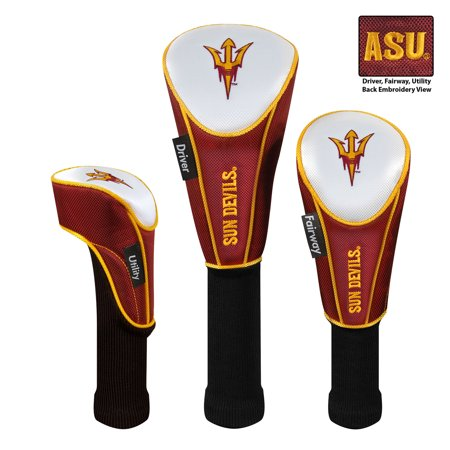 Team Effort Arizona State Sun Devils Set of Three Golf Headcovers