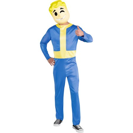 The Vaults Halloween London (Vault Boy Halloween Costume for Men, Fallout Shelter, Standard, Includes)