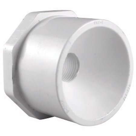 White Reducing Bushing (Charlotte Pipe Reducing Bushing 1