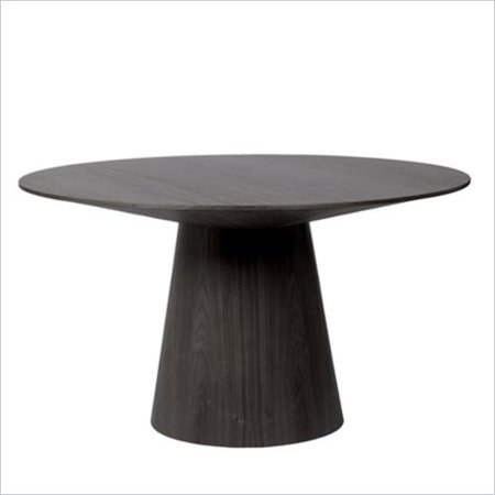 eurostyle wesley round pedestal dining table in wenge