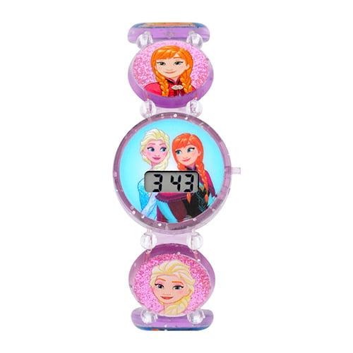Frozen Kids Stretch Elastic Bracelet LCD Watch