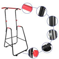 Tebru Pull Up Bar, Multifunction Pull Up Bar Parallel Bar Dip Stand Dip Station Exercise Equipment for Home Gym