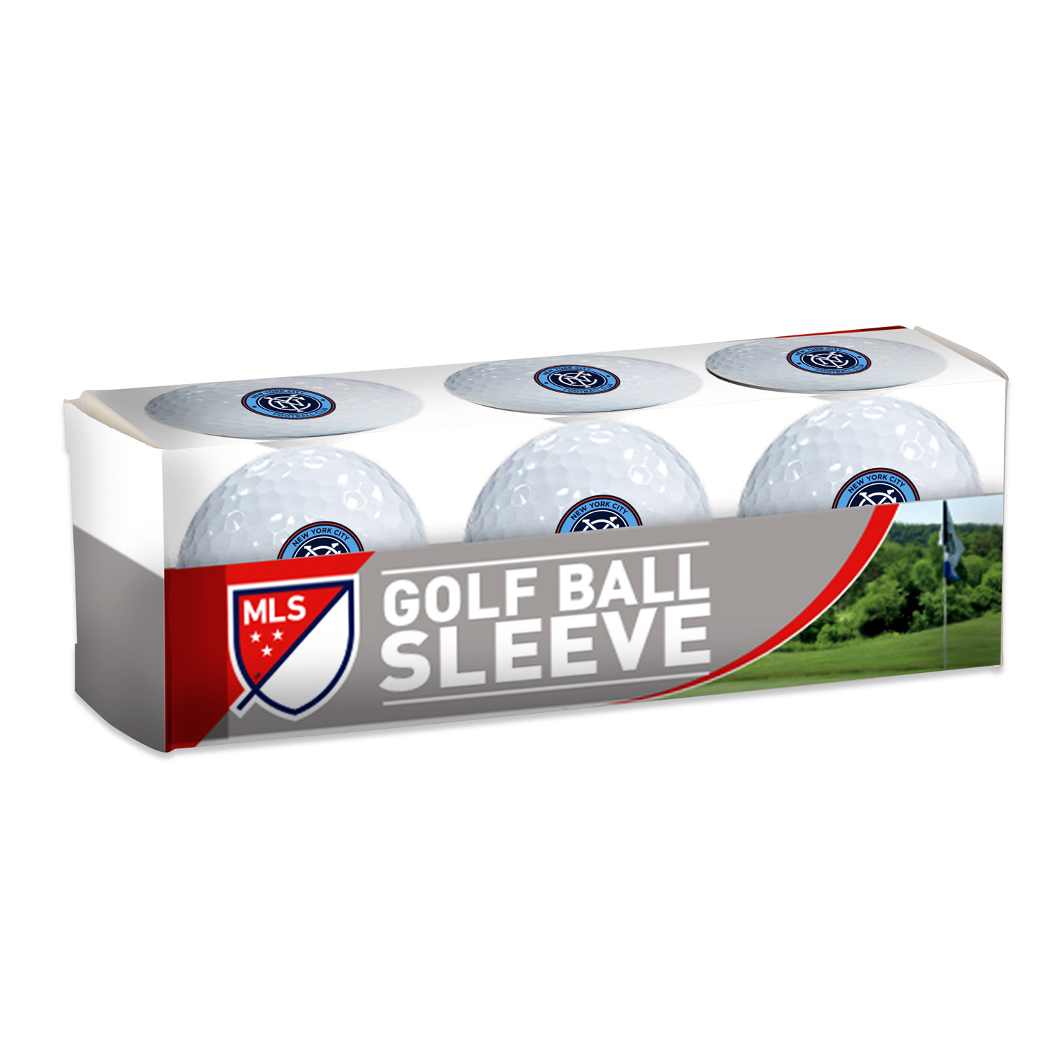 New York City FC WinCraft 3-Pack Golf Ball Sleeve - No Size