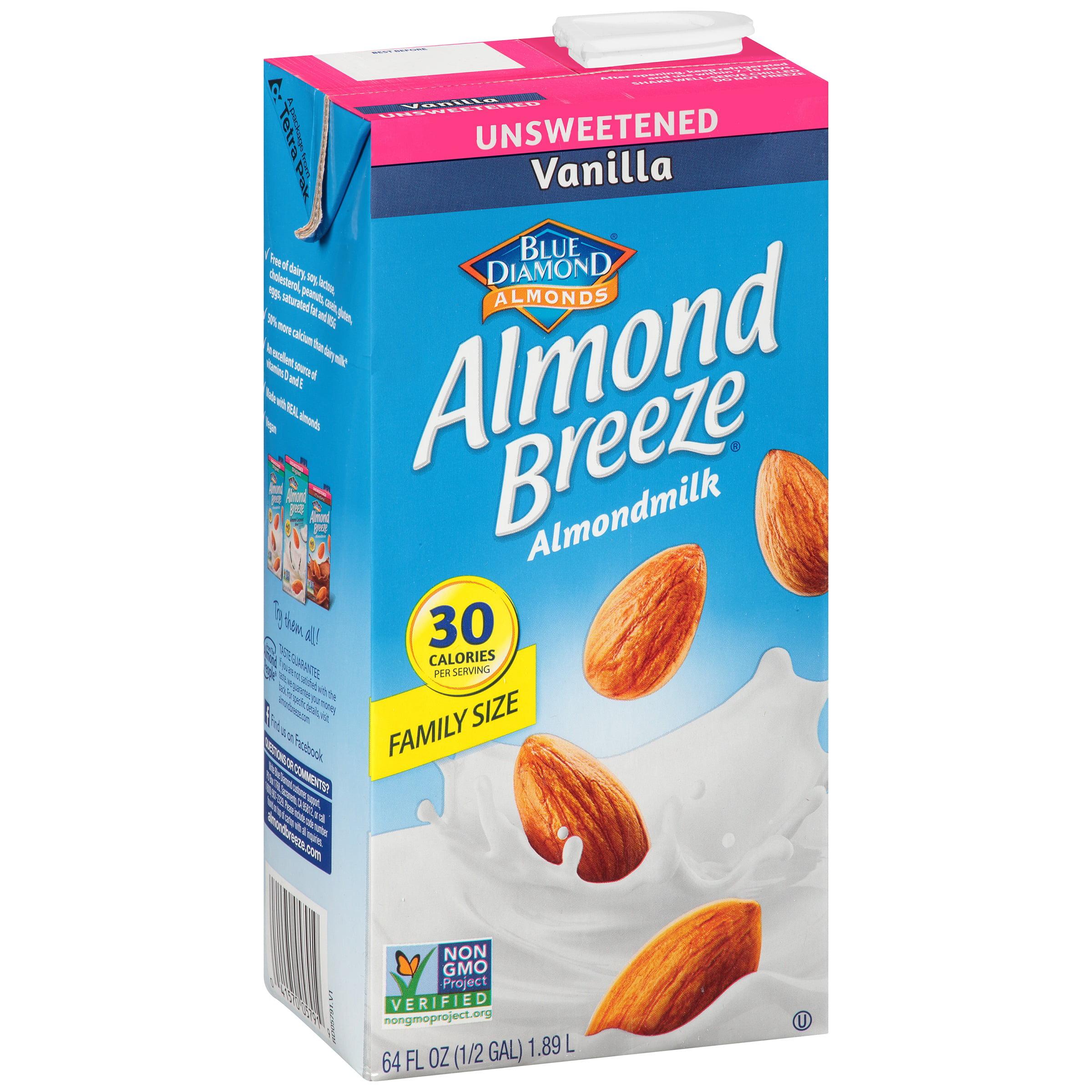 Blue Diamond Almond Breeze Vanilla Almondmilk, 64 fl oz