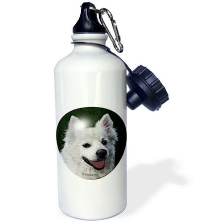 3dRose American Eskimo Dog, Sports Water Bottle, 21oz