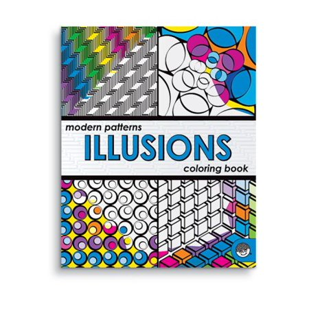 Modern Patterns Illusions Coloring Book, Age: 6+ By MindWare