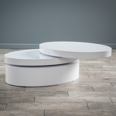Christopher Knight Home Small Oval Mod Rotatable Coffee Table