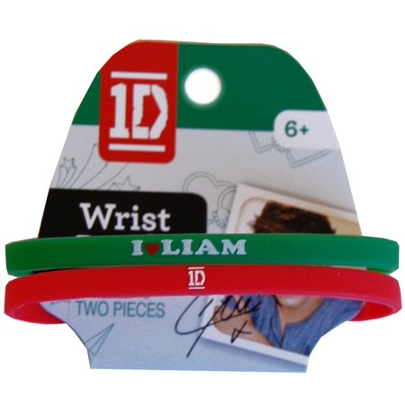 One Direction Wristband - 1D One Direction Wrist Band 2 Pack Liam