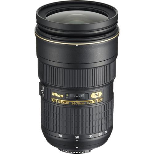 Nikon 24-70mm f/2.8G AF-S ED Zoom-Nikkor Lens - Factory Refurbished includes Full 1 Year Warranty