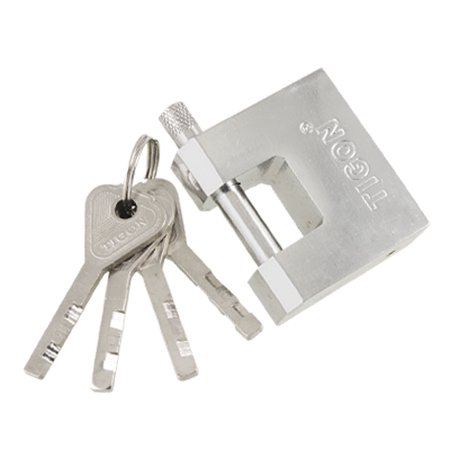 50mm Chrome Plated Home Gates Lock Steel Security Padlock with key Silver (Plated Padlock)