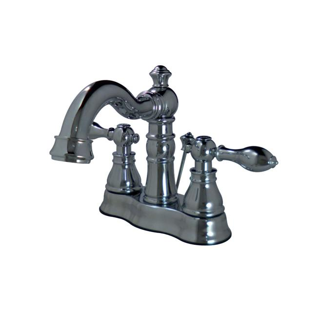 Kingston Brass FSC1601ACL 4 in. Fauceture American Classic Two Handle Centerset Lavatory Faucet, Chrome - image 1 de 1