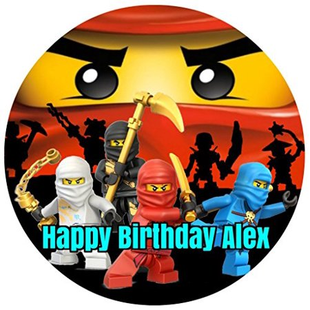 Ninjago Round Lego Ninja Edible Image Photo Cake Frosting Icing Topper Sheet Personalized Custom Customized Birthday Party - 8
