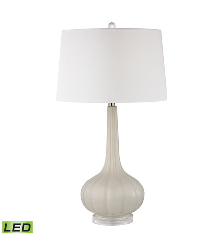 Table Lamps 1 Light With Off White Ceramic Acrylic Medium Base 30 inch 9.5 Watts