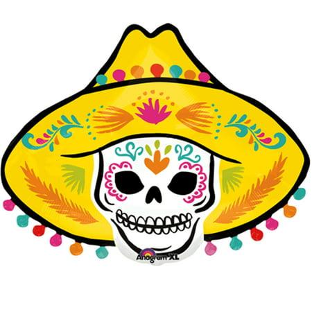 Cheap Sombrero Hats (Coco Sombrero Hat Skull Balloon)