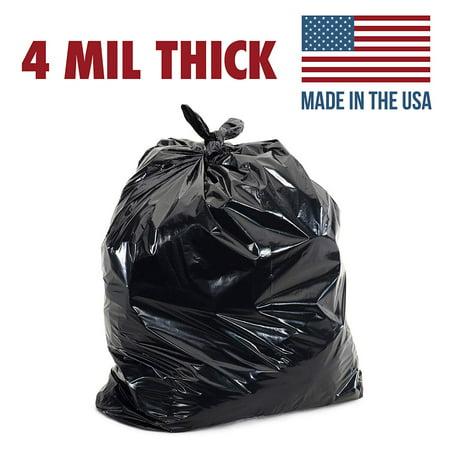55 Gallon 4mil Contractor Toughest Most Durable Trash Bags Heaviest Duty Strength Puncture Resistant