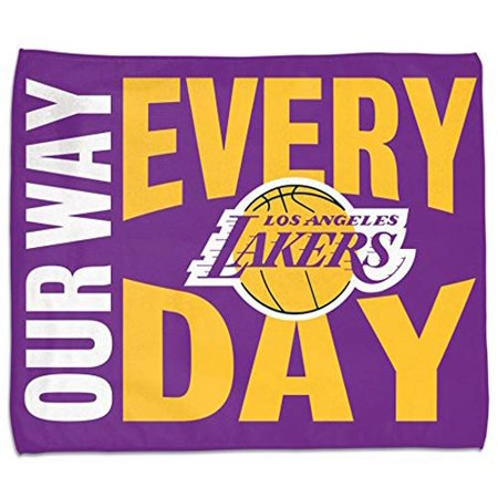 """WinCraft NBA Los Angeles Lakers Our Way Every Day Rally Towel 15""""x 18"""" - image 1 de 1"""