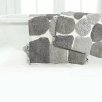 "Chesapeake Pebbles 2Pc. Spa Bath Rug Set (21""x34"" & 24""x40"")"