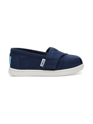Toms 10010531: Kids Unisex Classic Alpargata 2.0 Navy Fashion Sneakers (6 M US Toddler)