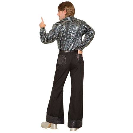 Mens 70'S Black Sequin Pants Halloween Costume - Mens Pleather Pants Halloween Costume