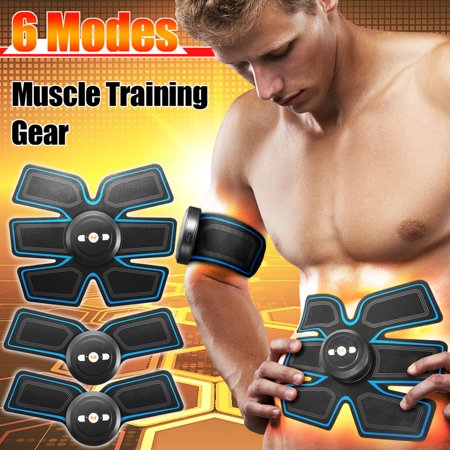 USB Rechargeable EMS Intelligent Buttocks Arm Leg Abdominal Muscle Trainer Smart Body Building Fitness Ab Core Toners Home Office