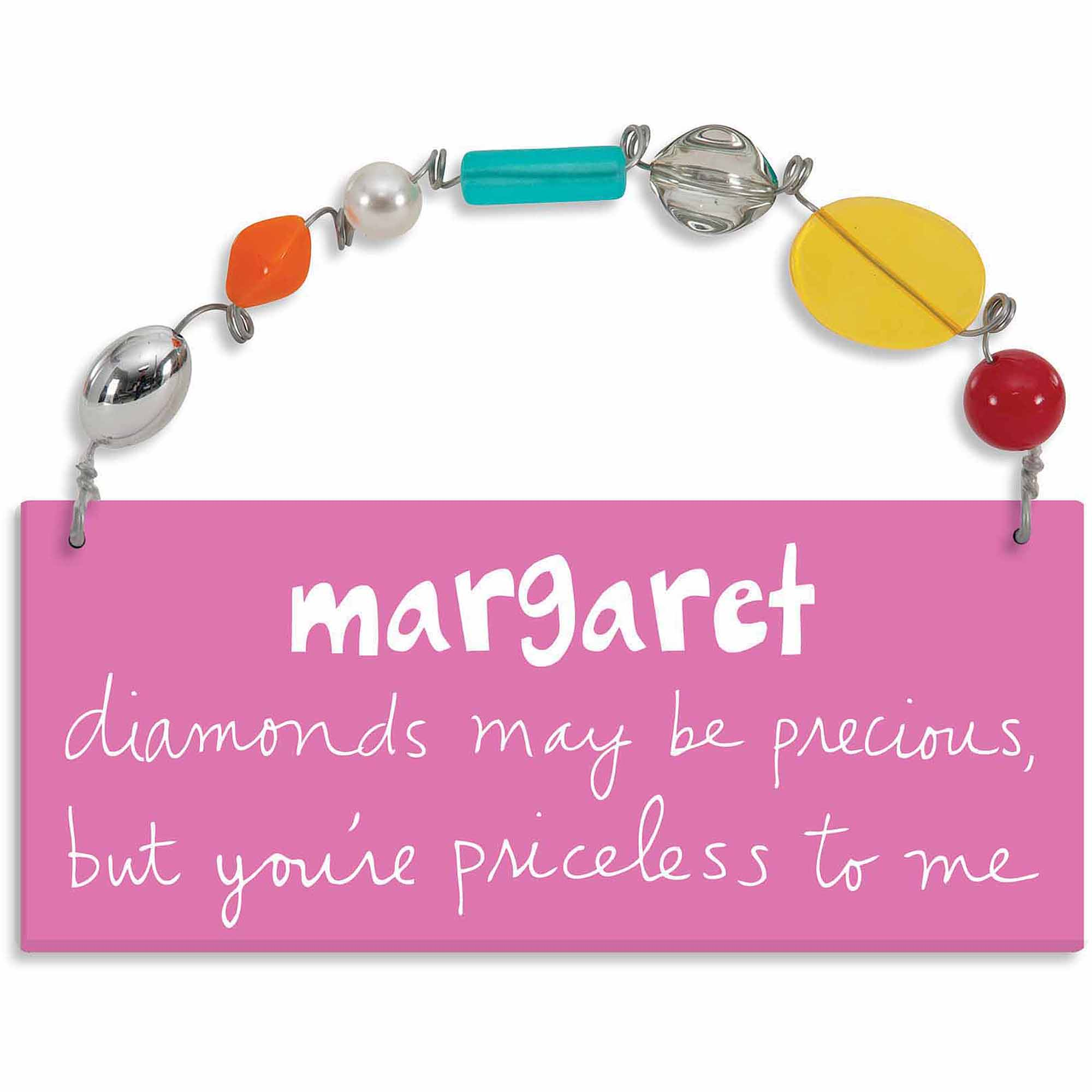 Personalized Sandra Magsamen Diamonds May Be Precious Wall Plaque