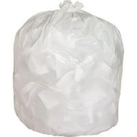 Genuine Joe, GJO02312, Heavy-duty Tall Kitchen Trash Bags, 150 / Carton, White