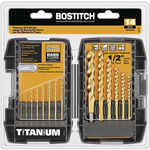 Bostitch 10-Piece Titanium Speed Tip Drill Bit Set, BSA1S14TM