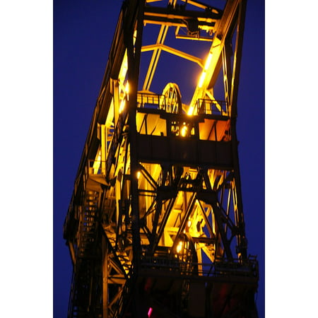 Canvas Print Industry Bill Ruhr Area Conveyor System Headframe Stretched Canvas 10 x 14