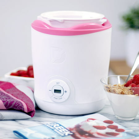 Dash Greek Yogurt Maker  White And Pink Trim